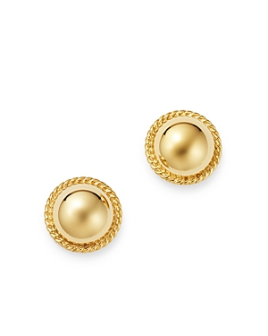 Bloomingdale's Braided-Edge Dome Stud Earrings in 14K Yellow Gold - 100% Exclusive