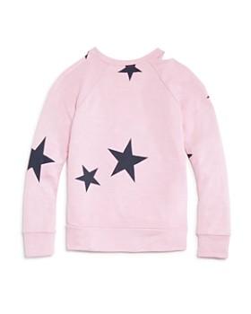 Flowers by Zoe - Girls' Cold-Shoulder Star Sweatshirt - Little Kid