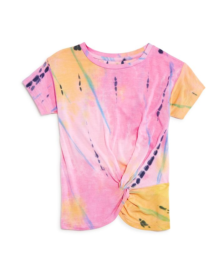 Flowers by Zoe - Girls' Tie-Dyed Knotted Tee - Little Kid