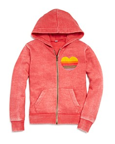 Vintage Havana - Girls' Heart On Zip Hoodie - Big Kid