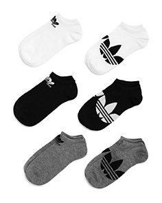 Adidas - Logo-Pattern Ankle Socks - Pack of 6