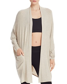 Beyond Yoga - Brushed Up Origami Open-Front Cardigan