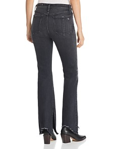 rag & bone/JEAN - Nina Flared Jeans in Clean Onyx
