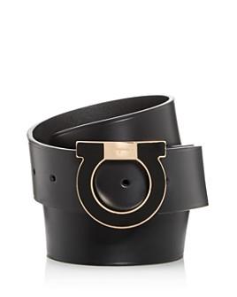 Salvatore Ferragamo - Men's Gancio Buckle Leather Belt
