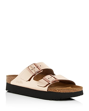 bc8c447d895c Birkenstock  Arizona - Birko-Flor  Platform Sandal In Metallic Copper  Leather