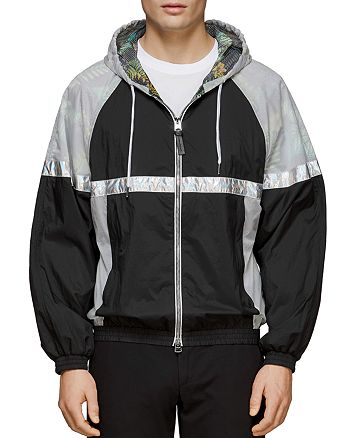 Mackage - Axel Color-Block Mixed-Media Windbreaker Jacket