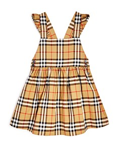 Burberry - Girls' Ruffle Vintage Check Dress - Little Kid, Big Kid