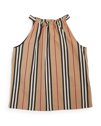 Burberry - Girls' Harper Icon Stripe Blouse - Big Kid