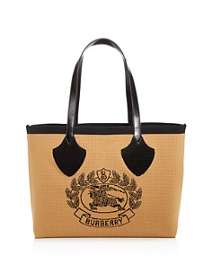 Burberry - Woven Logo Large Tote