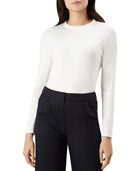 HOBBS LONDON - Molly Pleated-Trim Top