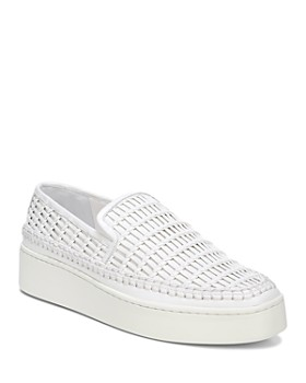 1269afb25fb Vince - Women s Stafford Woven Leather Platform Slip-On Sneakers ...