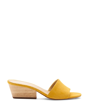 Botkier Sandals WOMEN'S CARLIE SUEDE MID HEEL SLIDE SANDALS