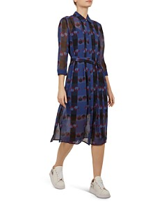 Ted Baker - Colour by Numbers Laven Robot-Check Shirt Dress
