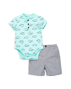 Little Me - Boys' Whale Henley Bodysuit & Shorts Set - Baby