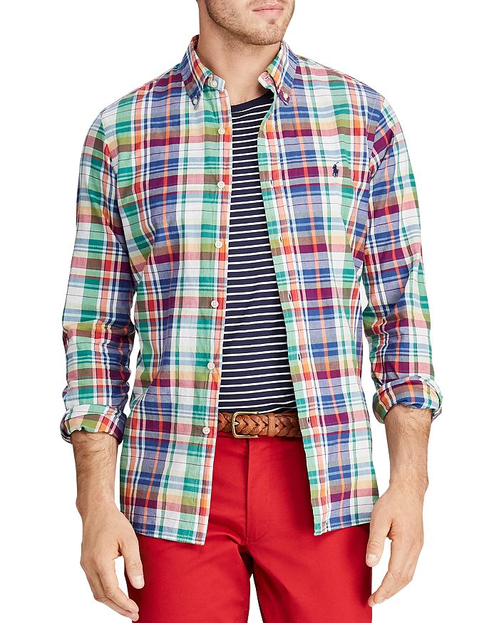 ece2f442 Polo Ralph Lauren Classic Fit Button-Down Madras Shirt | Bloomingdale's