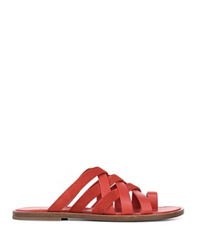 Vince - Women's Piers Leather & Suede Strappy Slide Sandals