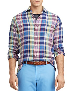 Polo Ralph Lauren - Plaid Classic Fit Linen Shirt