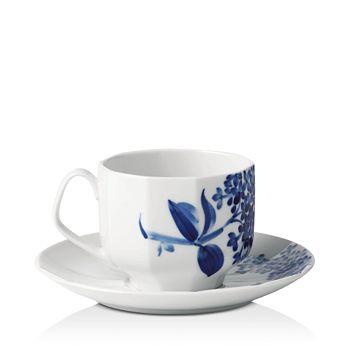 Royal Copenhagen - Blomst Lilac Cup & Saucer Set - 100% Exclusive