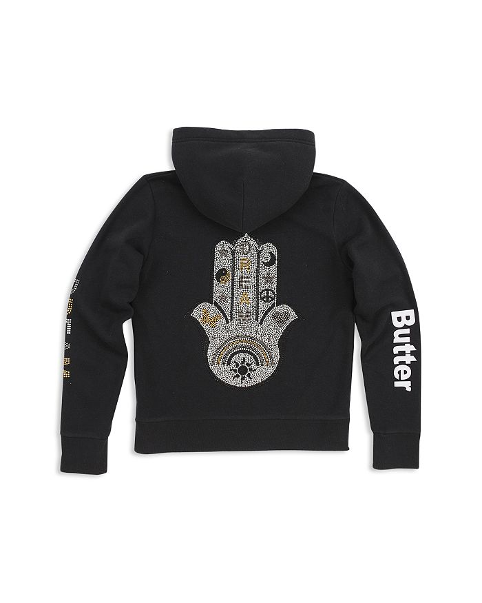 Butter - Girls' Hamsa Zip-Up Hoodie - Little Kid, Big Kid