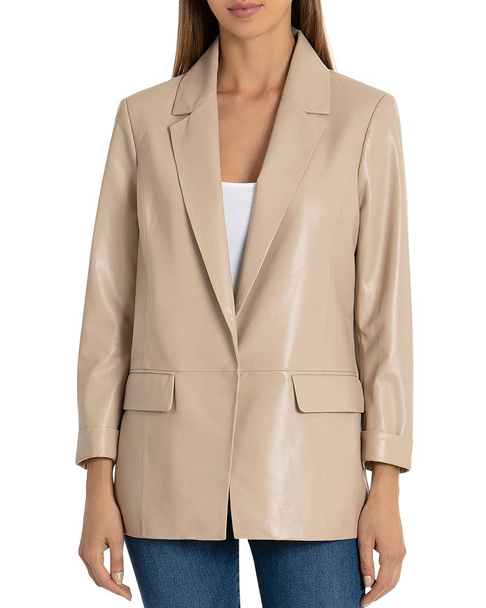 Badgley Mischka - Leather Boyfriend Blazer