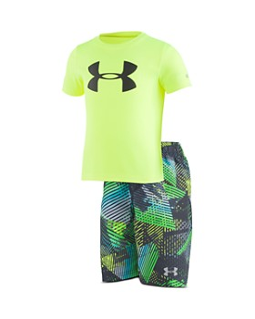 Under Armour - Boys' UPF 50 Rash Guard Volley Set - Little Kid