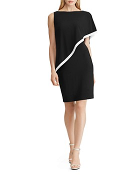 Ralph Lauren - Cape-Detail Jersey Dress