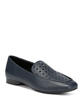 Donald Pliner - Women's Honey Embossed Leather Loafers