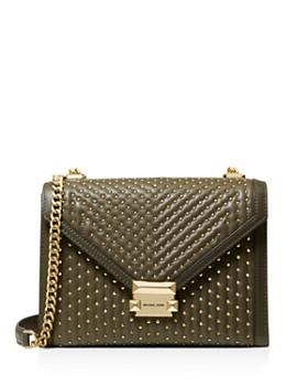 1988331f1a28 MICHAEL Michael Kors - Large Whitney Studded Leather Shoulder Bag ...
