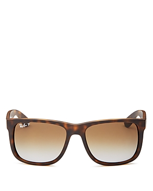 Ray Ban Sunglasses RAY-BAN UNISEX JUSTIN POLARIZED SQUARE SUNGLASSES, 55MM