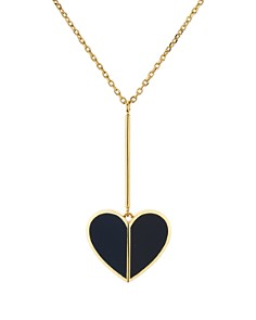 kate spade new york - Linear Heart Pendant Necklace, 16""