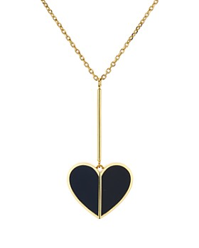 "kate spade new york - Linear Heart Pendant Necklace, 16"""