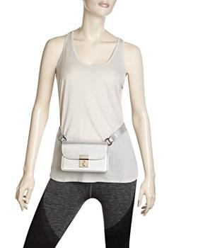 Behno - Amanda Metallic Leather Belt Bag