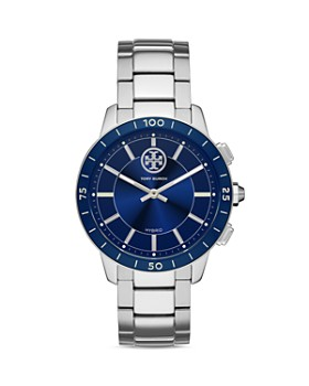 Tory Burch - Collins Silver-Tone Hybrid Smartwatch, 38mm