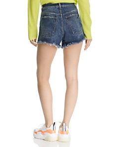 DL1961 - Cleo Distressed High-Rise Denim Shorts in Solana