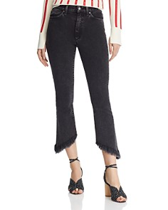 Joe's Jeans - Callie Crop Bootcut Frayed-Hem Jeans in Audrey