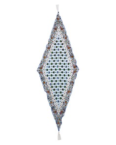 Tory Burch - Soleil Tasseled Diamond Silk Scarf