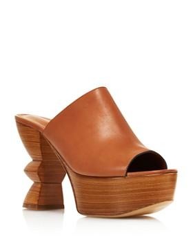0d76aa60d24 Salvatore Ferragamo - Women s Carved Heel Platform Mule Sandals ...
