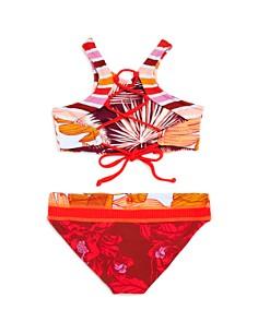 Maaji - Girls' Sunshine Garden Reversible High-Neck Two-Piece Swimsuit - Little Kid, Big Kid