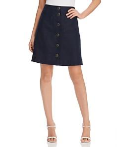 Tory Burch - Button-Front Linen Skirt