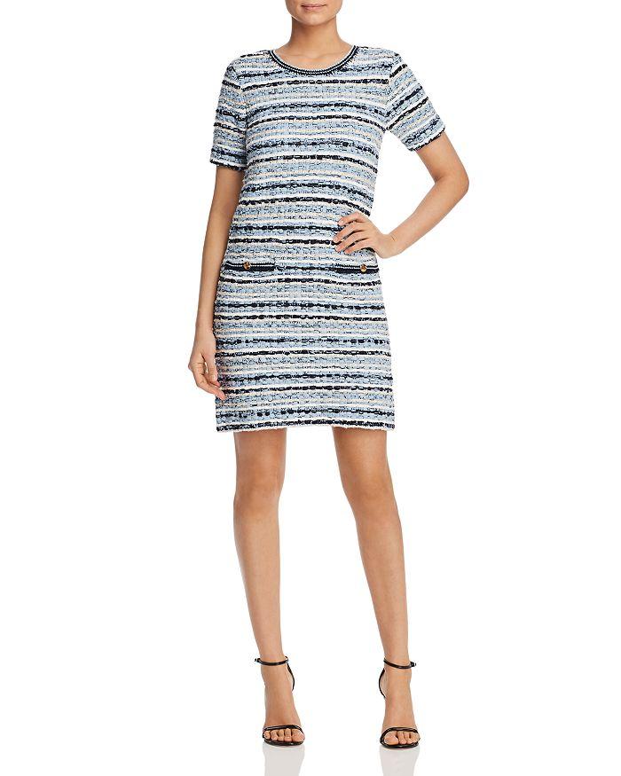 Tory Burch - Short-Sleeve Tweed Shift Dress