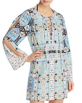 3808fb936ed60 Nanette Lepore - Tapestry Tunic Swim Cover-Up - 100% Exclusive ...