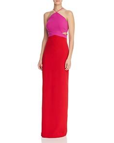 Aidan by Aidan Mattox - Color-Blocked Cutout Gown - 100% Exclusive