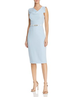 Black Halo - Belted Sheath Dress - 100% Exclusive