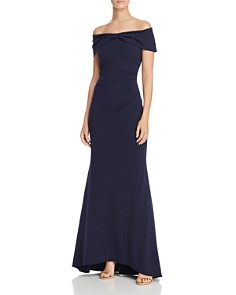 Eliza J - Off-the-Shoulder Bow-Front Dress