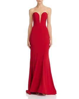 Mac Duggal - Strapless Bustier Gown