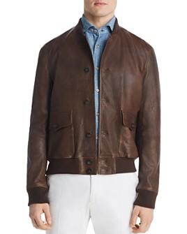Dylan Gray - Leather Baseball Jacket - 100% Exclusive