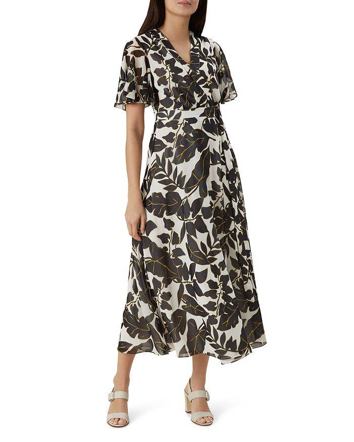 HOBBS LONDON - Maria Leaf-Print Wrap Dress - 100% Exclusive