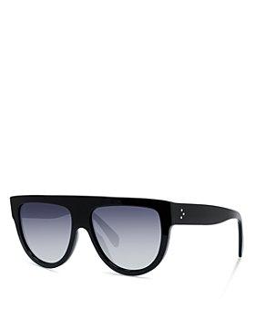 CELINE - Unisex Polarized Flat Top Aviator Sunglasses, 60mm