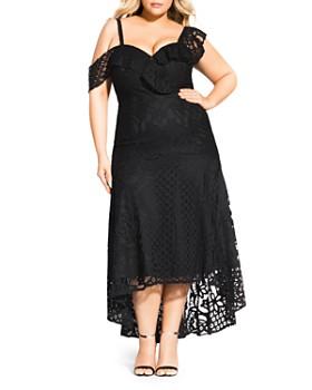 1a2906d935071 City Chic Plus - Femme Fatale Lace Maxi Dress ...