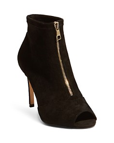 KAREN MILLEN - Women's Peep Toe High-Heel Booties